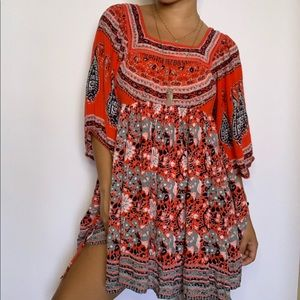 Free People boho chic gypsy floral summer dress